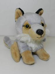 Vlk sedící, plyš 14cm (6)