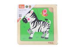 Dřevěné puzzle - zebra