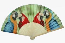 Vějíř papoušci 21x38cm(12)