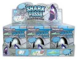 Fosílie ve vejci žralok svítící 15cm (12)