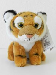 Tygr hnědý sedící plyš 14cm (6)