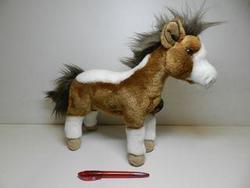 Kůň stojící plyš 32cm