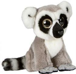 Lemur sedící, velké oči, plyš 20cm(6ks/bal)