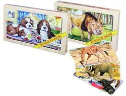 Puzzle dřevěné zvířata, 2druhy