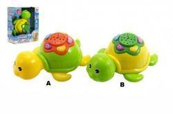 Želva plast 12cm, baterie, zvuk, světlo