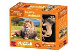 3D Puzzle Lev 100dílků figurka(6)
