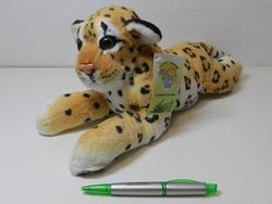 Leopard plazící, plyš 35cm (60/karton)