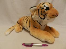 Tygr hnědý 45cm ležící plyš (28/karton)