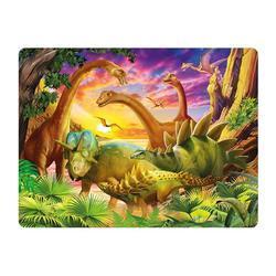 Pohlednice 3D 16cm - dinosauři při úsvitu (25)