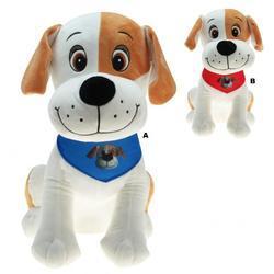 Pes sedící se šátkem plyš 20cm, 2dr