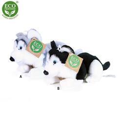 Pes Husky ležící plyš 17cm 2barvy
