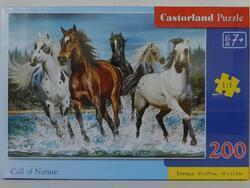 Puzzle 200dílků premium - Běžíci koně