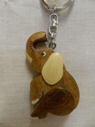 Přívěšek dřevo - slon (6)