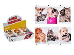 Bloček mini kočky a psi 42x63mm