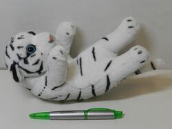 Tygr bílý na zádech plyš 20cm (130/karton) - 1