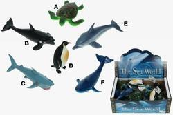 Zvířata mořská 6 druhů, plast, 12-18cm (24)