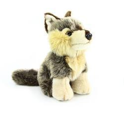 Vlk sedící plyš 18cm