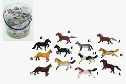 Kůň 6cm 12druhů (60ks/dóza)