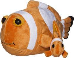 Ryba klaun s mládětem, plyš 32cm(6ks/bal)