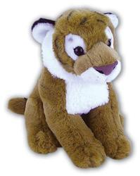Tygr hnědý sedící plyš 28cm