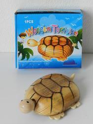 Želva dřevěná 11x4,5cm