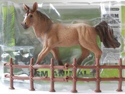 Kůň 15cm s ohradou v krabičce