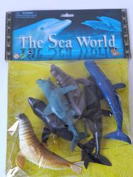 Mořský svět plast set 6ks 15cm(24)