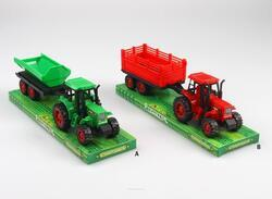 Traktor plast 2barvy 26x8x9cm