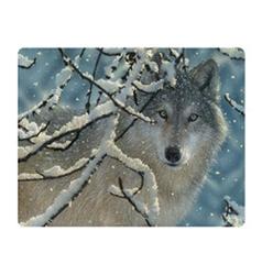 Pohlednice 3D 16cm - vlk v zimě (25)