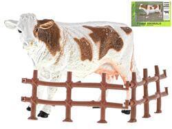 Kráva 13cm s ohradou v krabičce