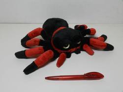 Pavouk černo-červený, plyš 25cm(6)