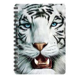 Notes 3D 11x14cm - tygr bílý