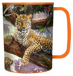 Hrnek 3D plast - leopardi, 300ml (15)