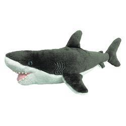 Žralok bílý plyš ECO, střední 38cm