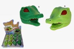 Hlava krokodýla 2barvy, slizová, 8cm(12)
