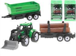 Traktor nakladač 17cm, setrvačník, 3dr