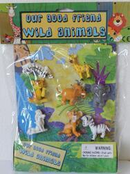 Zvířátko safari plast 6cm set 8ks na kartě(24) - 1