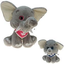 Slon se šátkem sedící, plyš 40cm, 2druhy