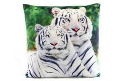 Polštářek 33cm tygr bílý