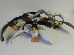 Pták plast 30cm, 6dr (8)
