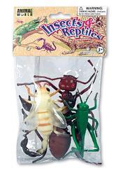 Hmyz plast 8-15cm set 4ks v sáčku (36)