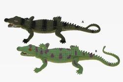 Krokodýl strečový,(12) 2barvy, 34cm