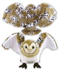 Sova v letu plyš 25cm, tvarovací křídla