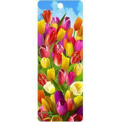Záložka 3D 15,5x5,7cm - tulipány