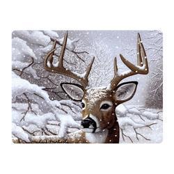 Pohlednice 3D 16cm - jelen v zimě (25)