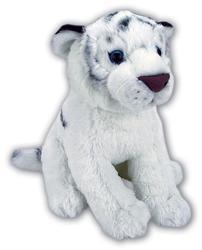 Tygr bílý sedící plyš 28cm
