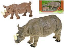 Nosorožec 22cm s mládětem 13cm v krabičce(24ks/bal)