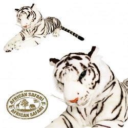 Tygr bílý plyš ležící 90cm