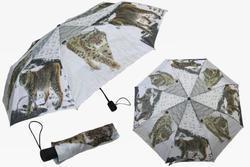 Deštník skládací 29cm - rys (12)