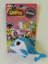 Klíčenka delfín plyš 8cm, velké oči(24ks/bal)